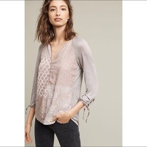 Anthropologie | Tiny Patchwork Juliette Top